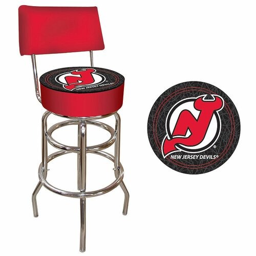 Trademark Global NHL Swivel Bar Stool with Cushion
