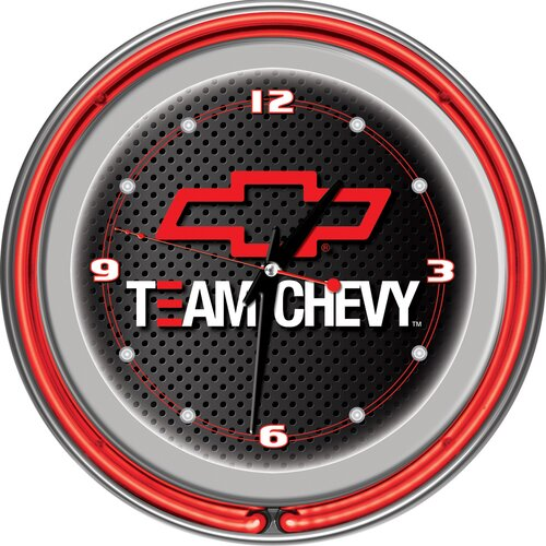 "Trademark Global 14"" Team Chevy Racing Wall Clock"
