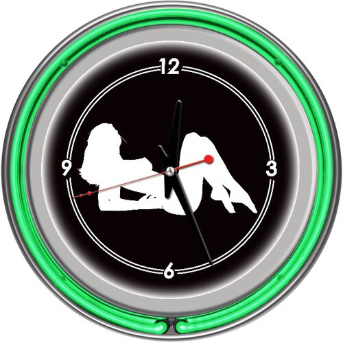 "Trademark Global 14.5"" Shadow Babes Series Wall Clock"