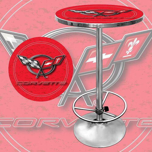 Trademark Global Corvette C5 Adjustable Pub Table