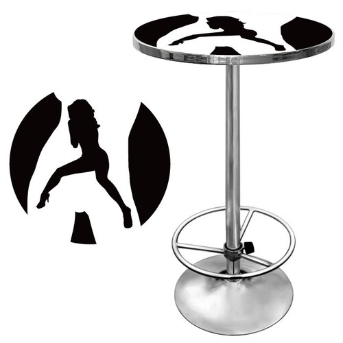 Trademark Global Shadow Babes C Series Pub Table