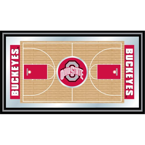 Ohio State Framed Basketball Court Mirror