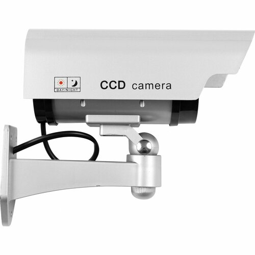 Trademark Global Security Camera Decoy with Blinking LED and Adjustable Mount