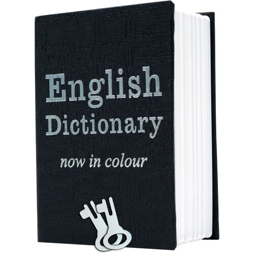 Trademark Global Mini Dictionary Diversion Book Safe with Key Lock