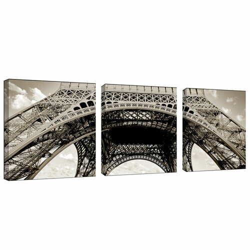 Trademark Global Tour de Eifel by Preston 3 Piece Photographic Print Set