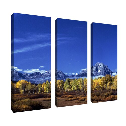 Trademark Global Autumn Tetons by Kurt Shaffer 3 Piece Photographic Print on Canvas Set