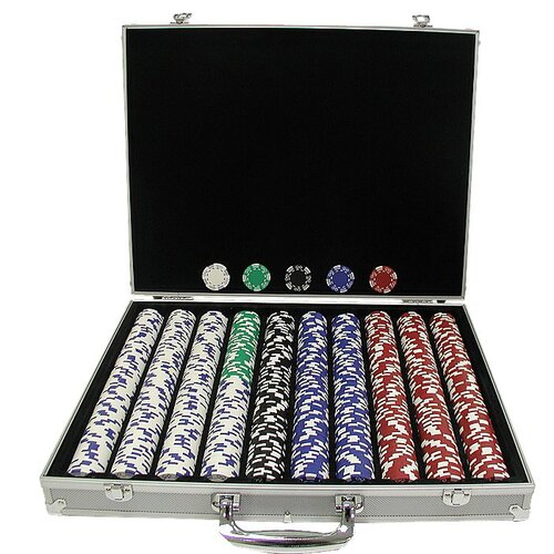 Trademark Global Royal Suited Chips with Aluminum Case
