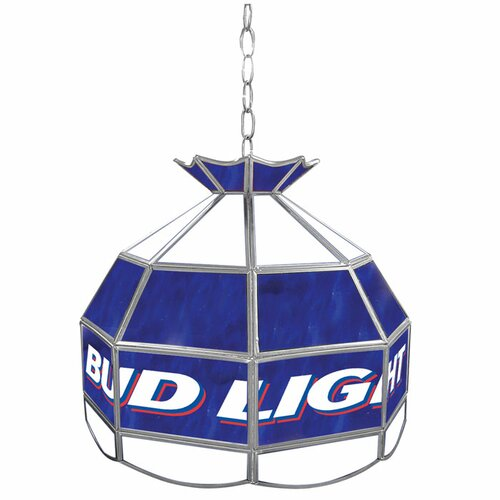 "Trademark Global Bud Light 16"" Budweiser Tiffany Light Fixture"