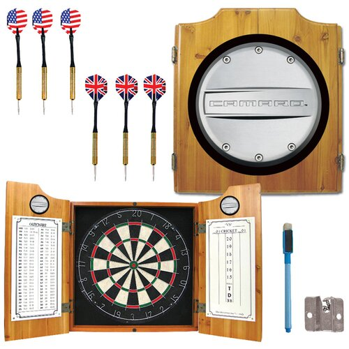 Trademark Global Camaro Dart Cabinet in Medium Wood