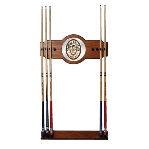 Trademark Global George Killian 2 piece Wood and Mirror Wall Cue Rack