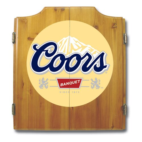 Coors Dart Cabinet with Darts and Board