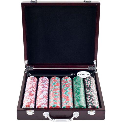 Trademark Global NexGen Pro Poker Chips in Cigar Tray Case