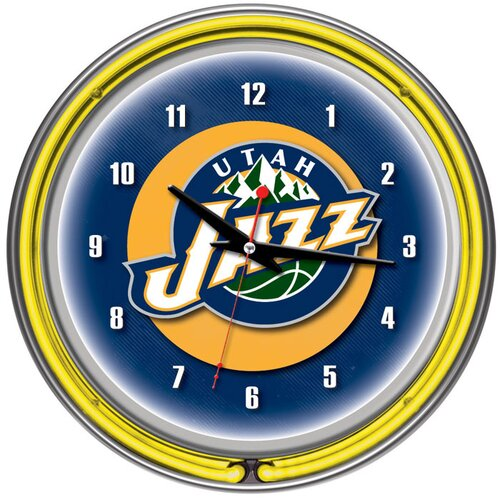 "Trademark Global 14.5"" NBA Double Ring Neon Wall Clock"