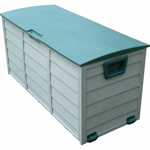 Trademark Global 61 Gallon Plastic Outdoor Storage Box