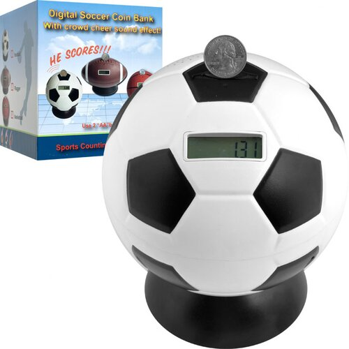 Trademark Global Soccer Ball Digital Coin Counting Bank