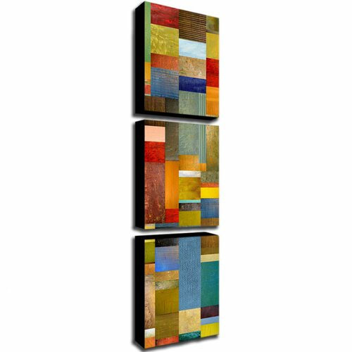 Trademark Global Color Panels with Blue Sky by Michelle Calkins 3 Piece Painting Print Canvas Set