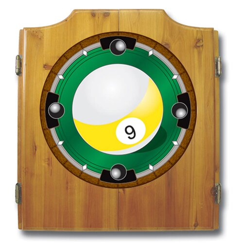 Trademark Global 9-Ball Dart Cabinet with Darts and Board
