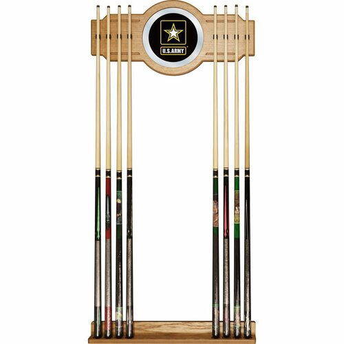 Trademark Global U.S Army Billiard Cue Rack with Mirror