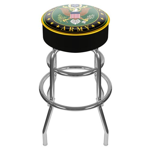 "Trademark Global U.S. Army 31"" Symbol Swivel Bar Stool with Cushion"