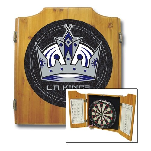Trademark Global NHL Dart Board and Cabinet Set