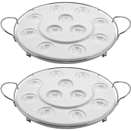 Trademark Global Godinger Multi Purpose Oval Serving Tray (Set of 2)