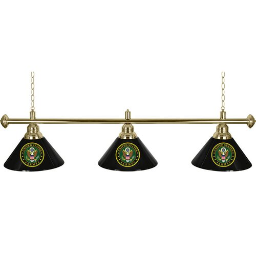 Trademark Global U.S Army 3 Light Symbol Billiard Light