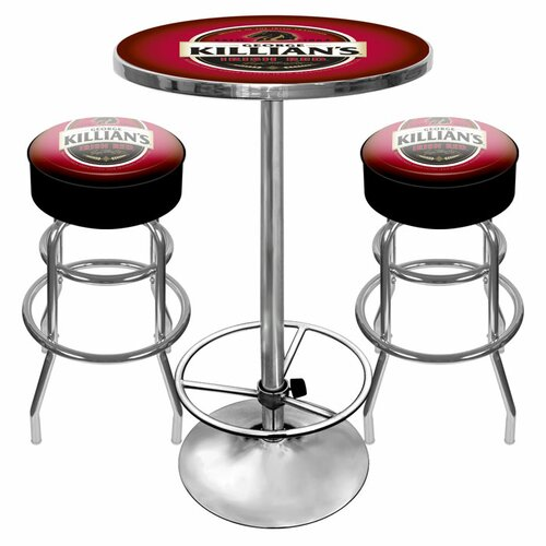 Trademark Global Killians Beer Game Room 3 Piece Pub Table Set