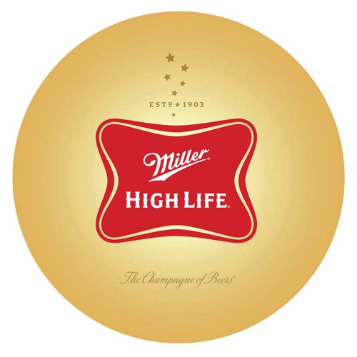 Trademark Global Ultimate Miller High Life 3 Piece Pub Table Set