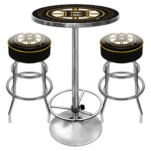 Trademark Global Game Room 3 Piece Pub Table Set