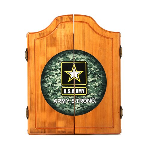 U.S. Army Digital Camo Wood Dart Cabinet Set