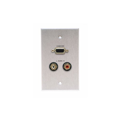 Comprehensive Single Gang Wall Plate in Kyde x Ivory (HD15, 2RCA- Passthru)