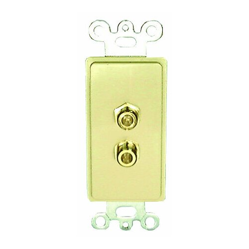 Comprehensive Single Gang Wall Plate (RF(2) Passthru)