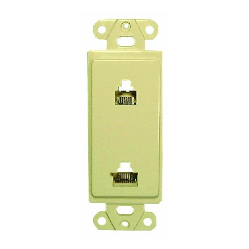 Comprehensive Single Gang Wall Plate (RJ45(1), RJ11(1) Passthru)