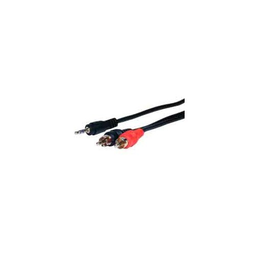 "Comprehensive Standard Series 72"" Stereo Mini Plug to 2 RCA Plugs Audio Cable"