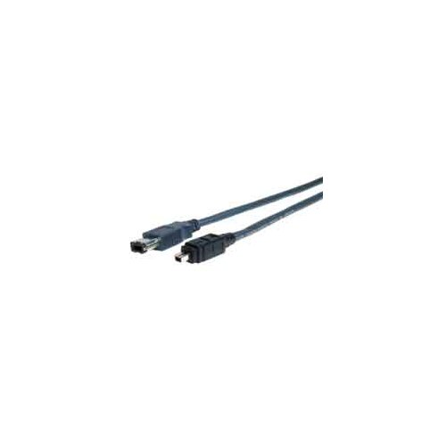 "Comprehensive 180"" Standard Series IEEE 1394 Fire Wire 6 Pin Plug to 4 Pin Plug Cable"