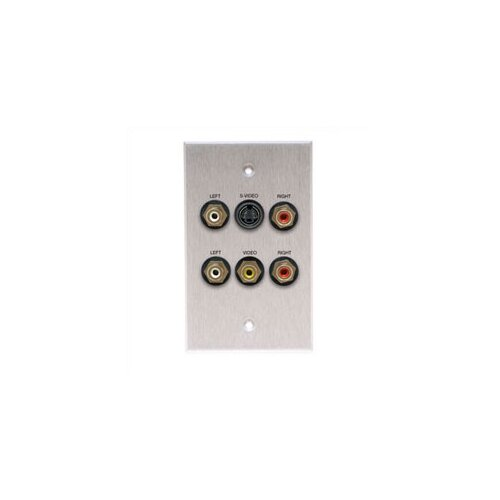 Comprehensive Wallplate with S-Video and 5 RCA Connectors