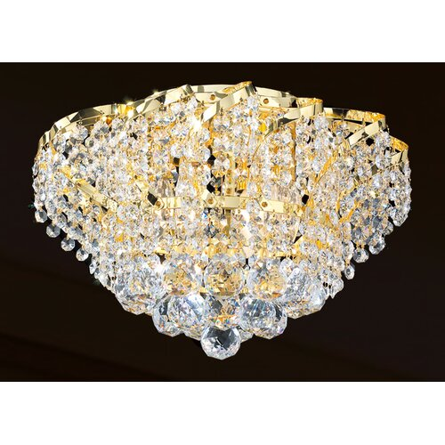 Worldwide Lighting Empire 3 Light Flush Mount