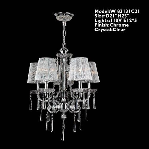 Orleans 5 Light Crystal Chandelier