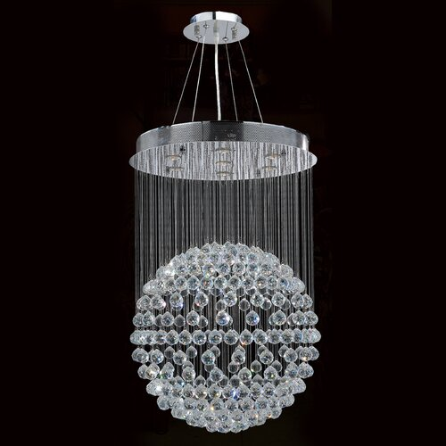 Saturn 7 Light Crystal Chandelier