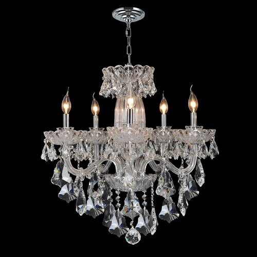 Olde World 5 Light Crystal Chandelier