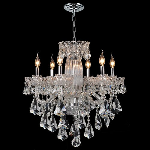 Olde World 6 Light Crystal Chandelier
