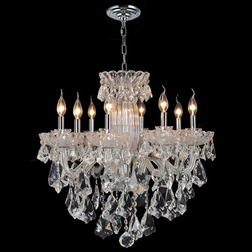 Olde World 8 Light Crystal Chandelier