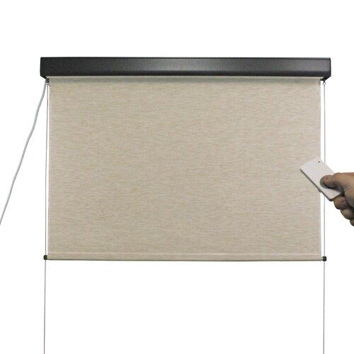 Keystone Fabrics Elite Plus Motor Operated Cordless Exterior Solar Shade Reviews Wayfair