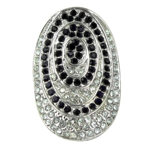 Trendbox Jewelry Crystal Pave Circle Ring