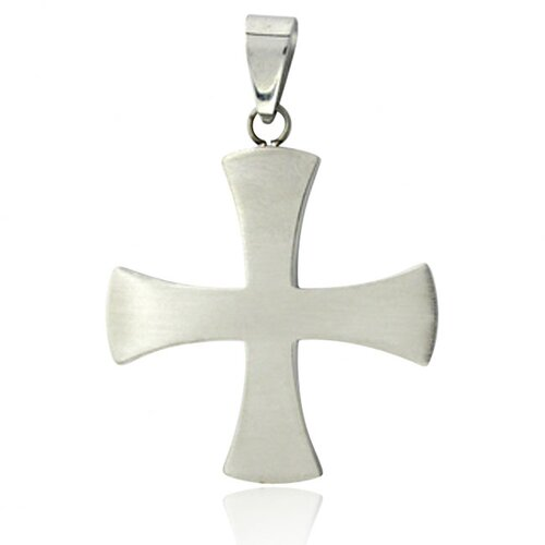 Trendbox Jewelry Plain Front Iron Cross Necklace