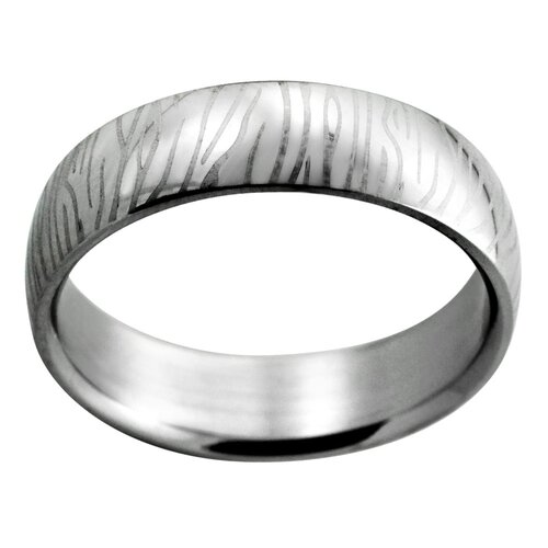 Trendbox Jewelry Etched Zebra Stripe Band Ring