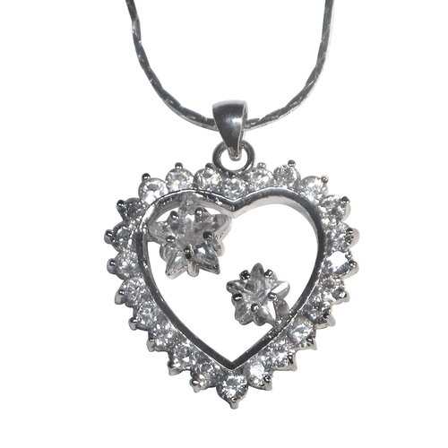 Trendbox Jewelry Cubic Zirconia Heart and Star Necklace Pendant