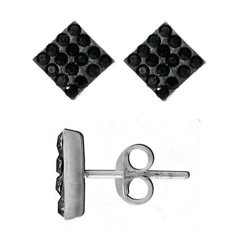 Crystal Square Stud Earrings