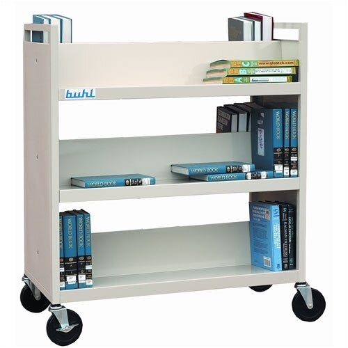 Buhl Steel Book Truck (With 6 Shelves)