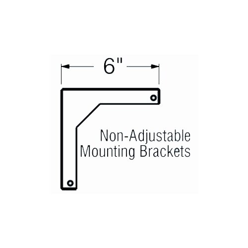 """Buhl 6"""" Fixed Wall Bracket for WS Screens"""